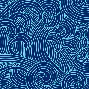 ocean wave outline large