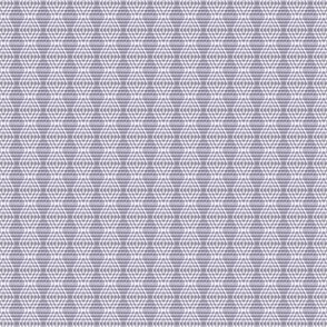 JP35  - Miniature - Buffalo Plaid Diamonds on Stripes in Neutralized Violet Monochrome