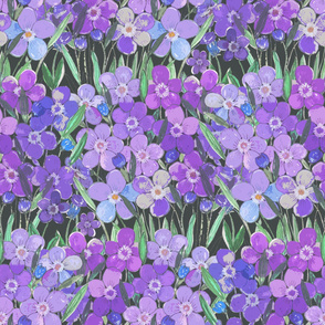 Lilac floral pattern