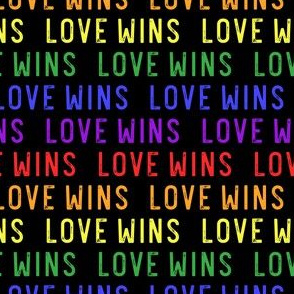 Love Wins - rainbow - PRIDE - LGBTQ - black - LAD20