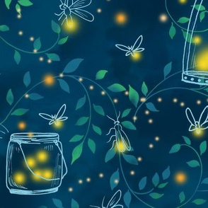 Firefly Evening Forest