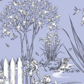 Toile Iris Pond Pattern Small| Light Lavender+Black+White