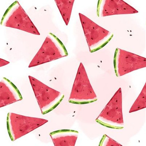 Watermelons on White