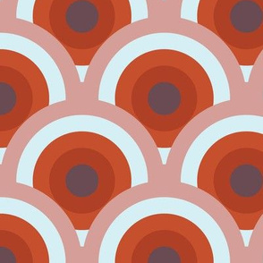 bottle fan medium - russet/plum