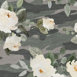 eucalyptus rose camouflage 24x24