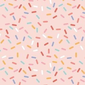 sprinkles - pastels on pink - LAD20