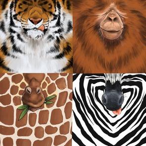 Animal Face Masks Safari