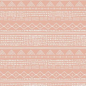 Minimal mudcloth bohemian mayan abstract indian summer love aztec design soft pastel coral gray nursery  SMALL