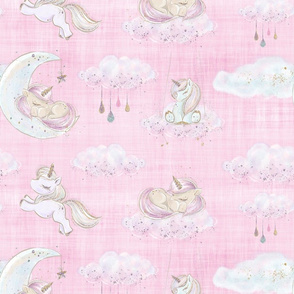 unicorn pink linen