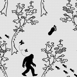 Bigfoot Sasquatch Off the Wall Toile