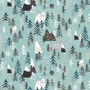Forest Peaks (sky blue) SML