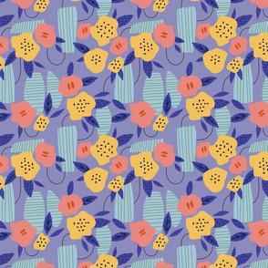Modern playful  flowers