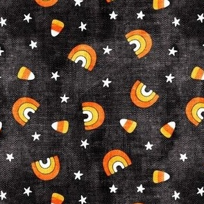 halloween rainbows and candy corn - stars and candy - black - LAD20