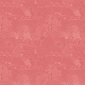 Hawaiian Landscape Pink