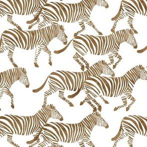 (med scale) zebras in relic bronze C20BS