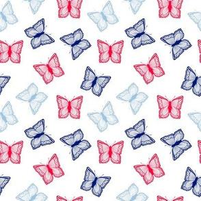 Patriotic Butterflies 4x4