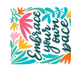 Embrace your own pace tea towel_positive affirmations