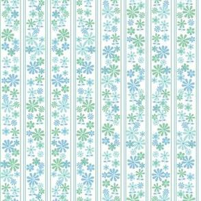 Brady Girl* (Sailor)    flowers floral stripes daisy 70s 60s vintage retro pastel mint aqua