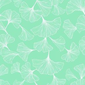 Ginkgo Leaves Seafoam - XS