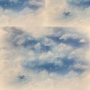 Oil clouds & sea-birds-