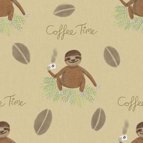 Coffee time sloth