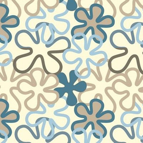 Vintage flowers with pale yellow background