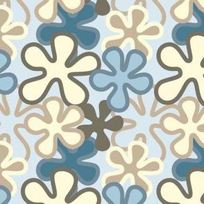Vintage flowers with lt blue background
