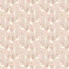 Bunnies pink {super small}