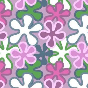 Pink Mod Flowers (Med)