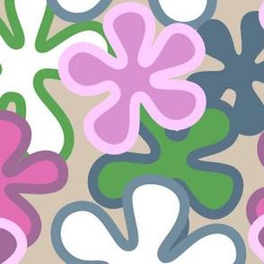 Mod Pink Flower (Lrg)