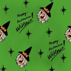 Happy Halloween Witches Green