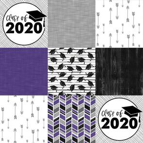 Grad 2020//Purple - Wholecloth Cheater Quilt