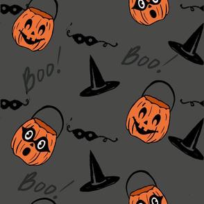 Pumpkins and boos gray