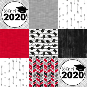 Grad 2020//Red - Wholecloth Cheater Quilt