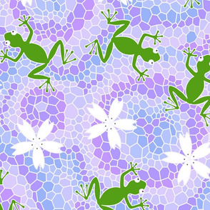 midsummer frogs and flowers
