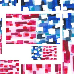 Abstract Watercolor - American Flag 2