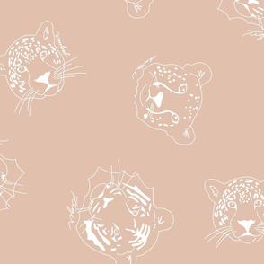 big cats neutral blush