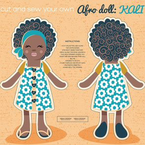 Cut and sew you own Afro Doll: Kali