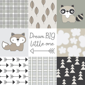 dream big little one neutrals wholecloth