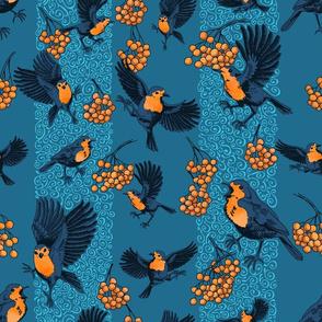 playful robins blue