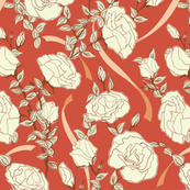 White Roses - Red - Medium