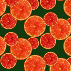 Oranges-dark green