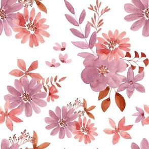 """12"""" Watercolour florals"""