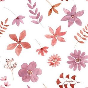 """8"""" Delicate watercolour florals"""