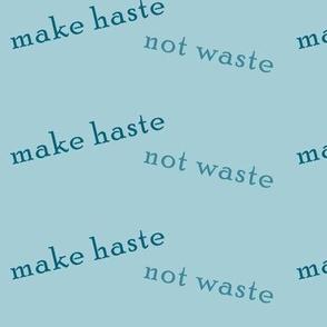 make_haste_not_waste_teal