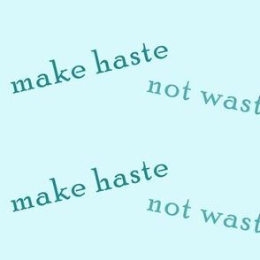 make_haste_not_waste_mint