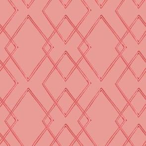 "8"" Watercolour geometric coral"