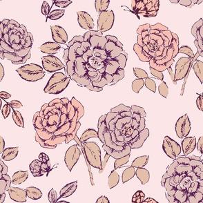 "12"" Romantic rose baby pink"