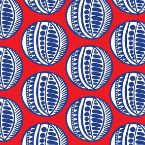 Sazma red blue fabric