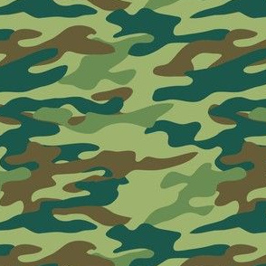 Camouflage-green and brown